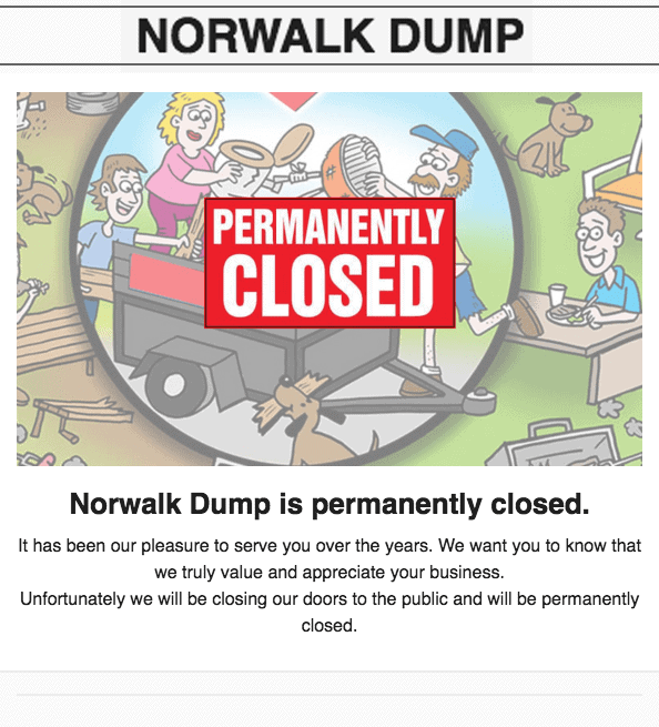 norwalk dump permanently closed